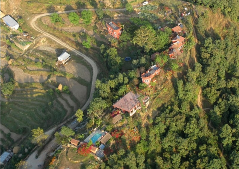 The Castle Resort Birds Eye View