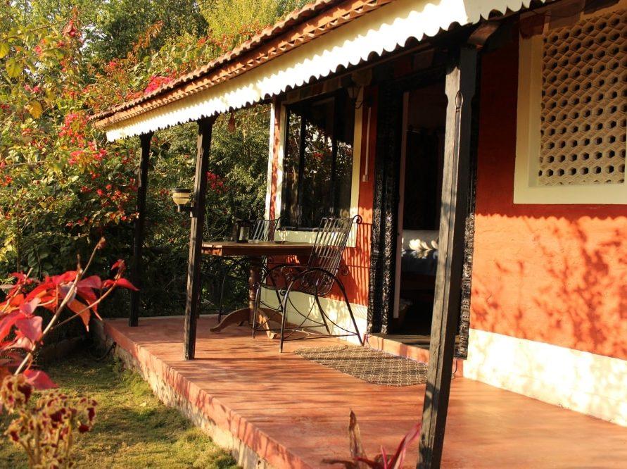 The Veranada Outside Rooms