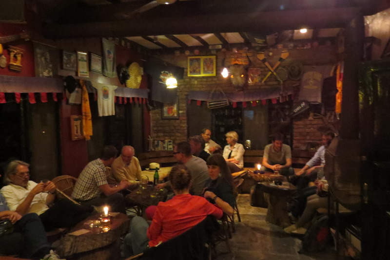 Guests at the Irish Pub in Pokhara