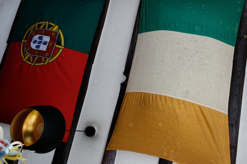 Irish and Portuguese Flags