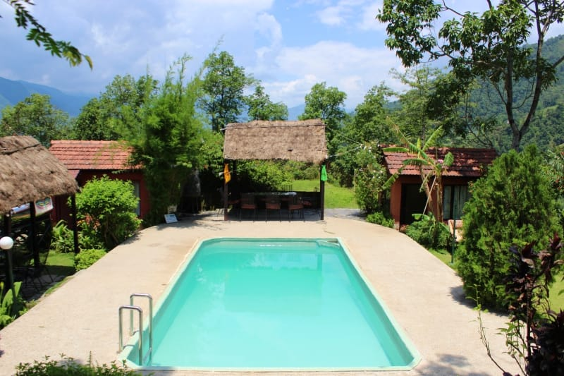 Outdoor Swimming Pool with Beautiful Views of Pokhara Valley