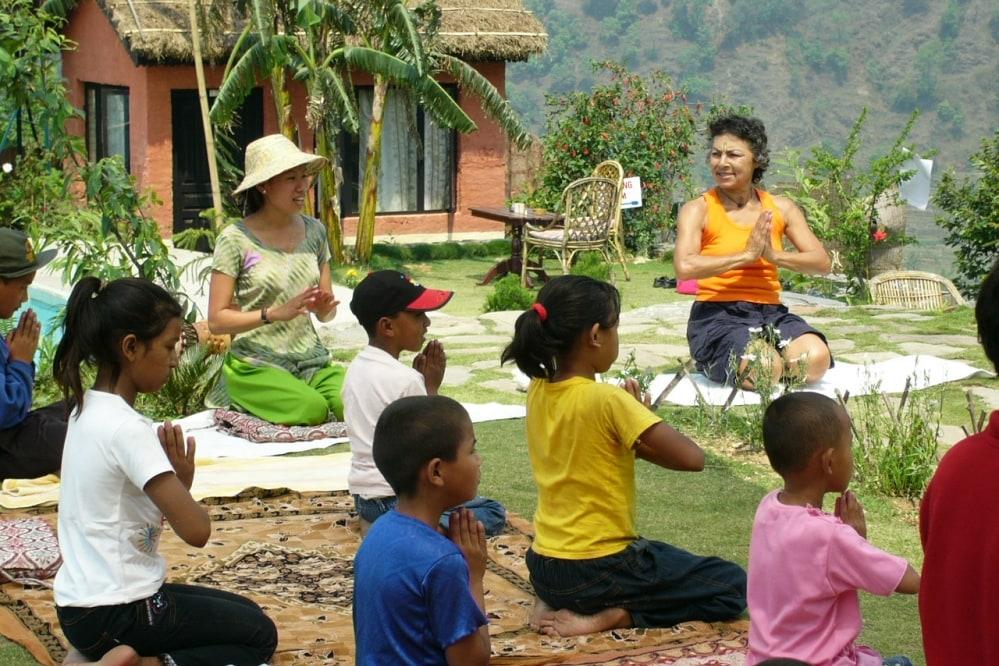 Yoga Classes for Children The Castle Resort Pokhara